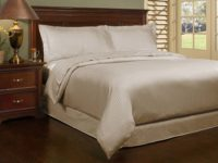 T300 Stripe 3PC Duvet Taupe