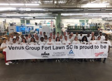 Venus Group's Fort Lawn, SC Facility Earns Prestigious ISO 9001 2015 Certification